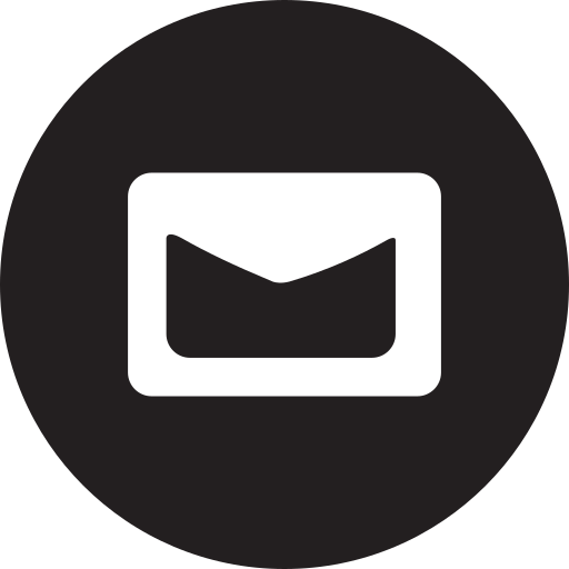 contact, email, full, mail, message, round icon