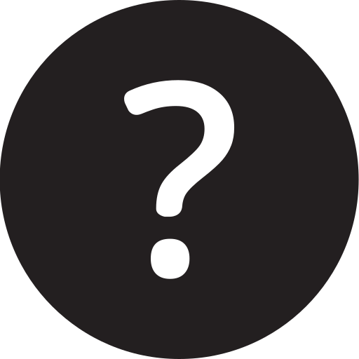 faq, full, question, round icon