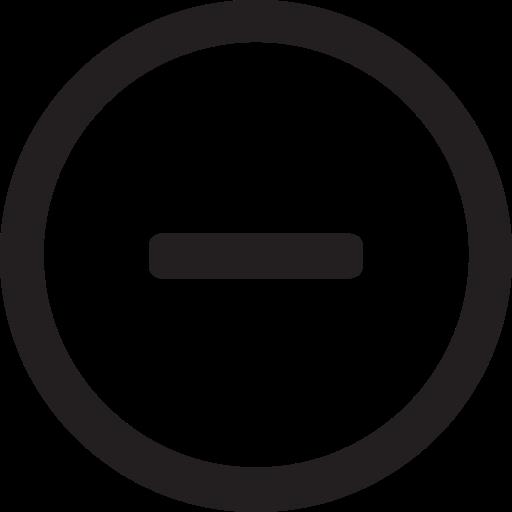 less, linecon, minus, remove, round, substract icon