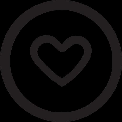 favourite, heart, like, linecon, round icon