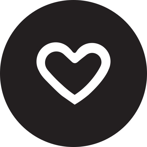favourite, full, heart, like, round icon