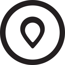 linecon, location, map, pin, place, round icon