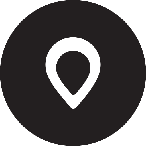 full, location, map, pin, place, round icon