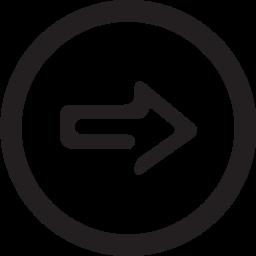 linecon, next, round icon