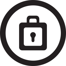 linecon, lock, pass, password, round, safety icon
