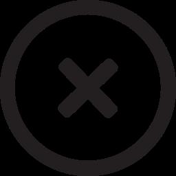 delete, linecon, remove, round icon