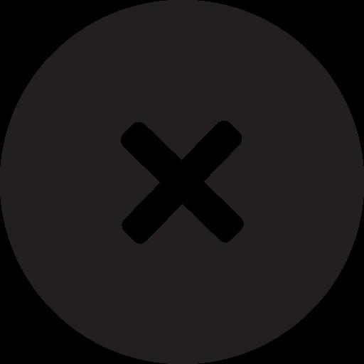 delete, full, remove, round icon