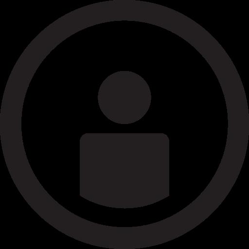 linecon, name, round, user, username icon