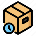 delivered, order, package, pending icon
