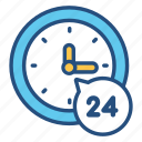 clock, customer, hours, open, service, support, time icon