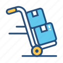 commerce, delivery, dolly, freight, package, service, shipment icon