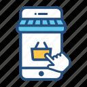 e-commerce, ecommerce, phone, purchase, shopping, smartphone icon