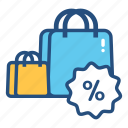 bag, discount, promotion, retail, sale, shopping, store icon