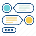 chat, customer, dialog, message, service, support, text icon
