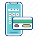 app, banking, mobile, online, payment, smartphone, transaction icon