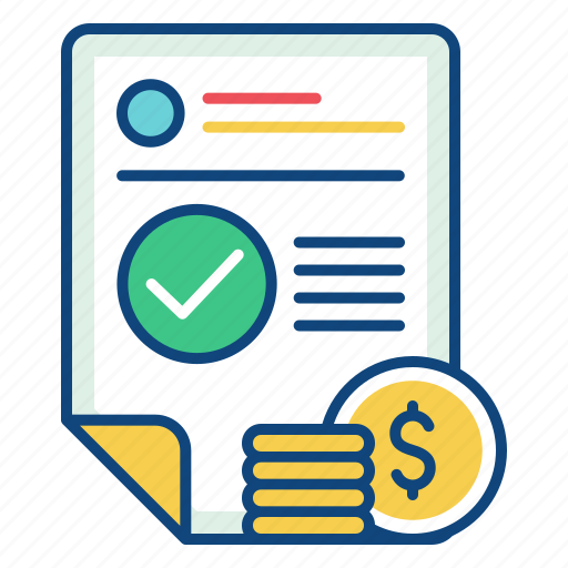 bill, billing, finance, invoice, payment, receipt, tax icon