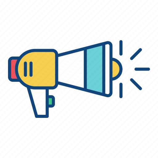 advertisement, announcement, loudspeaker, marketing, megaphone, promote, promotion icon