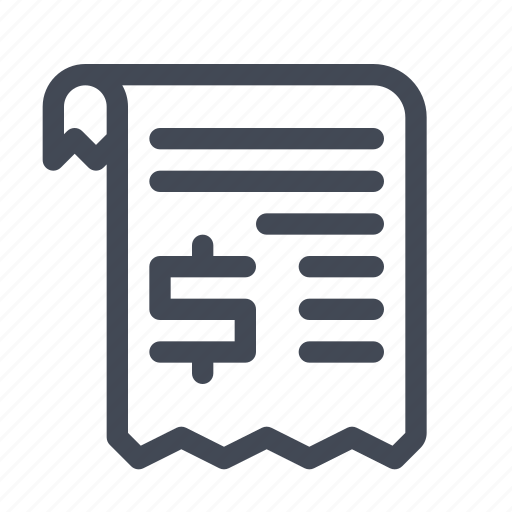 bill, billing, invoice, payment, receipt icon