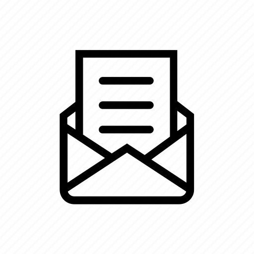 envelop, mail, message, open, text icon