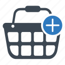 add, add to basket, basket, shopping basket icon