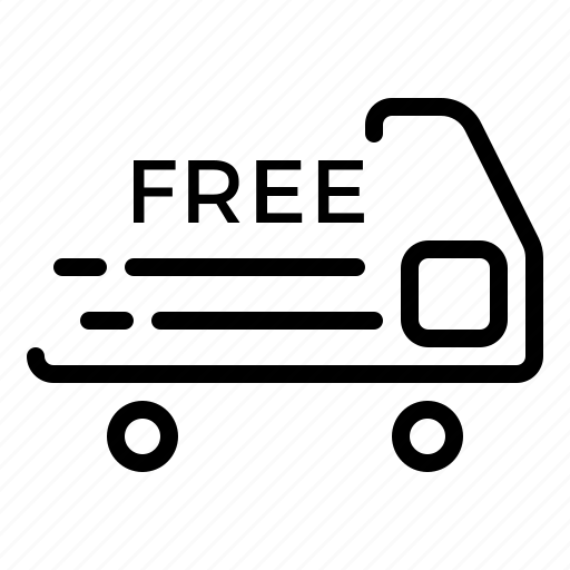 car, free, shipping, transport, transportation icon