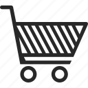 cart, purchase, retail, shopping cart icon