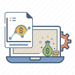 analytics, finance, money, optimization, report, sales, statics icon