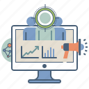 audience, marketing, public, relations, seo, target icon