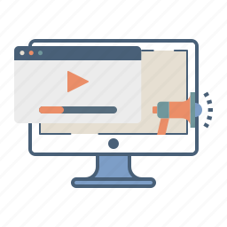 branding, channel, marketing, online, promotion, video, youtube icon