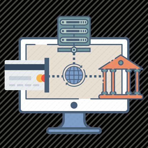 database, ebanking, internet, net, secure, web icon