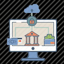 cloud, ebanking, internet, net, secure, web icon