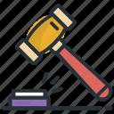 auction, auction hammer, bid, gavel, mallet