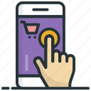 mobile payment, online payment, online transaction, pay online, shopping app icon