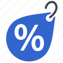 banner, discount, label, percent, tag icon