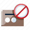 blocked, business, credit card, e commerce, online shop, online store, shopping icon