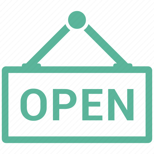 ecommerce, open, sign icon