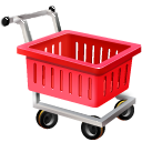 ecommerce, empty, shopping cart, webshop icon
