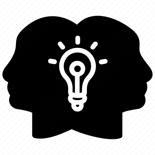 brainstorming, collective idea, collective intelligence, collective thinking, idea sharing icon