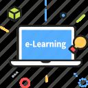 elearning, laptop, study, learning, online, e-learning