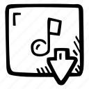 audio, download, e-learning, education, elearning, material, online courses icon