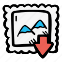 download, e-learning, education, elearning, graphic, material, online courses icon