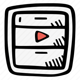 archive, e-learning, education, elearning, movie, online courses icon