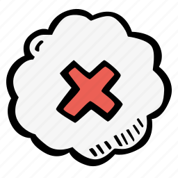 cancel, e-learning, education, elearning, navigation, online courses icon