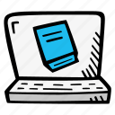 book, e-learning, ebook, education, elearning, online, online courses icon