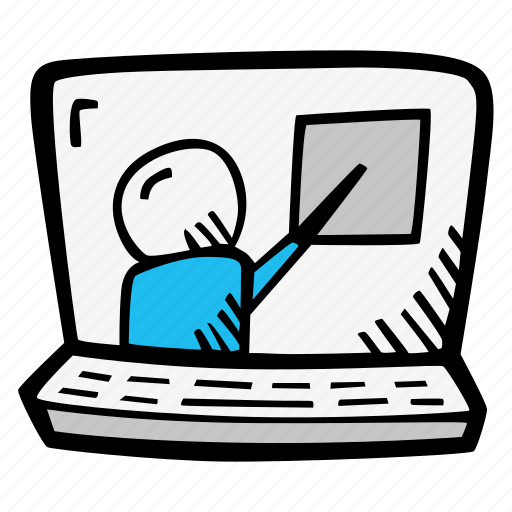 e-learning, education, elearning, instructor, lesson, online, online courses icon