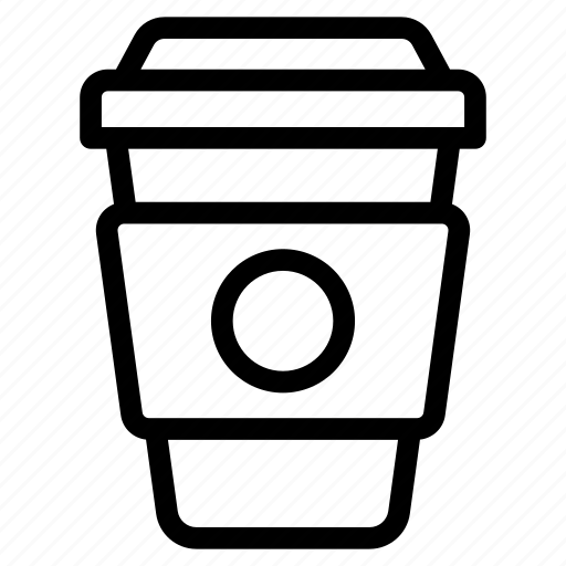 coffee containers, coffee cups, disposable coffee, reusable coffee cups, takeaway drink icon