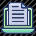 e docs, electronic file, online docs, online file, online paper icon