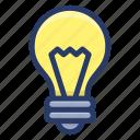 creative idea, idea, idea creation, innovative idea, light bulb icon