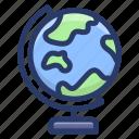 earth, globe, planet, world globe, worldwide icon