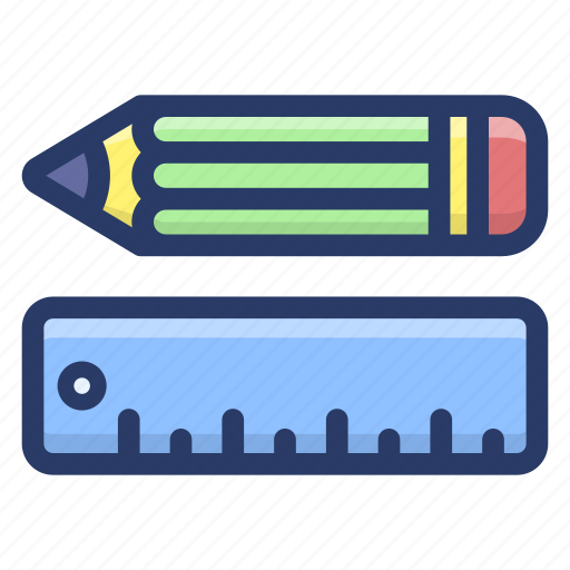 office supply, pencil scale, stationery accessory, stationery instrument, stationery tools icon
